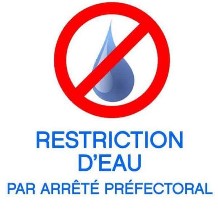 Pénurie d'eau – Restrictions au 12 août 2020
