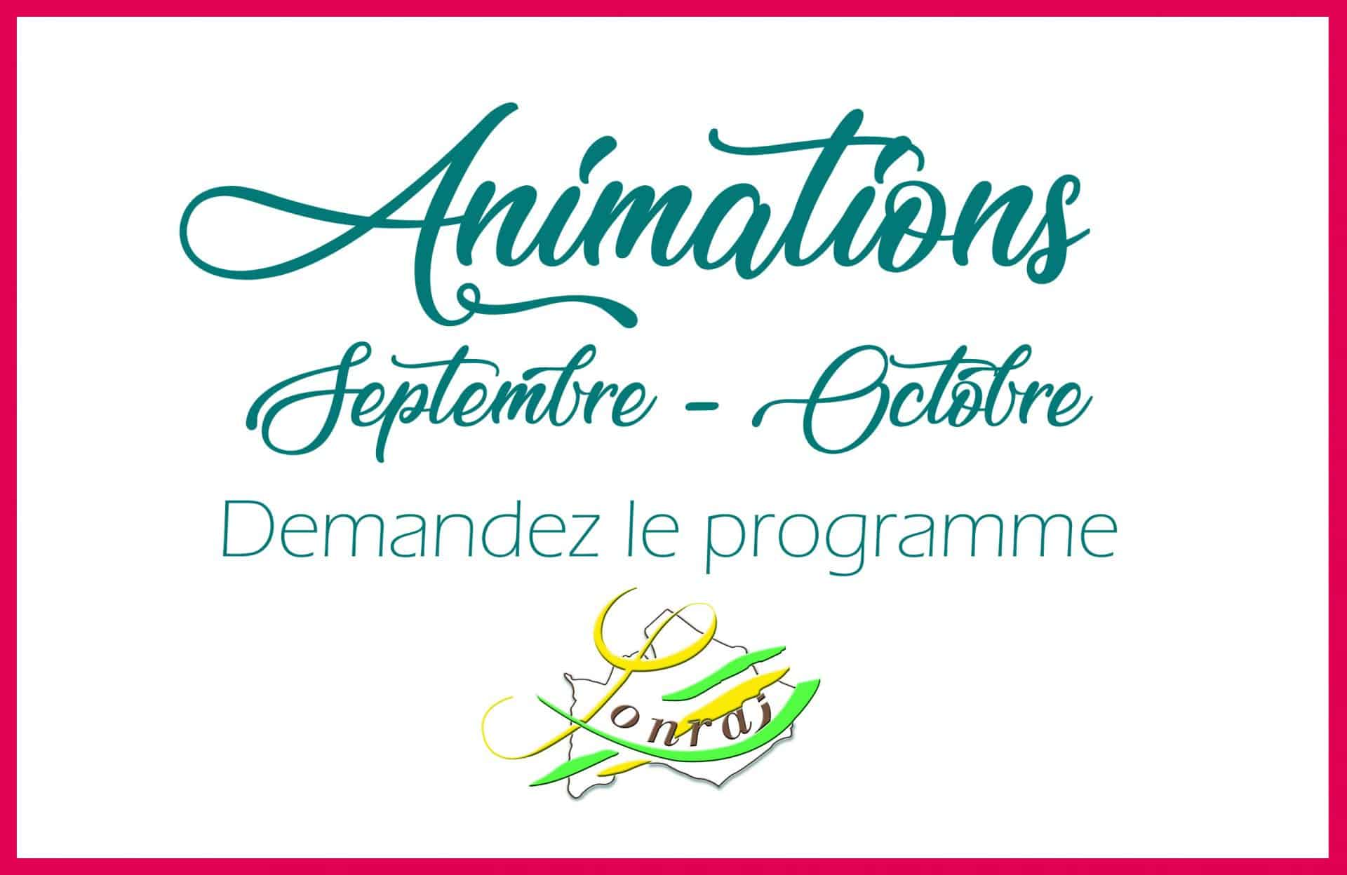 Animations à Lonrai Septembre / Novembre 2019