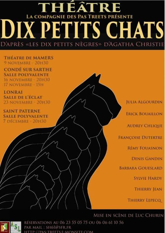 Théâtre : «Dix petits chats»