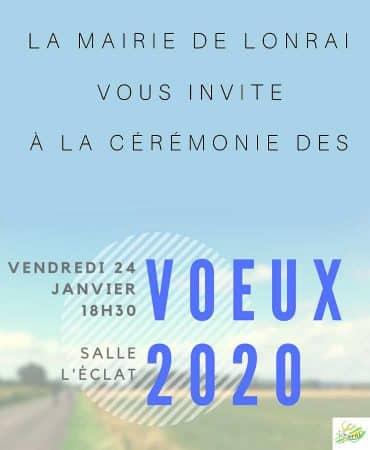 Cérémonie des vœux du maire de Lonrai –  2020