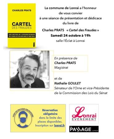 Séance de présentation et dédicaces du livre de Charles PRATS : «Cartel des fraudes»