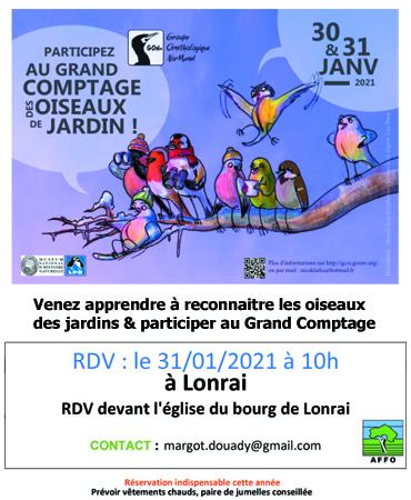 Grand Comptage des oiseaux 2021