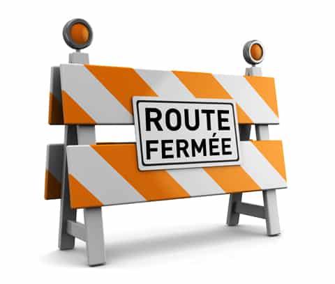 TROIS routes fermées (ou presque) cette semaine
