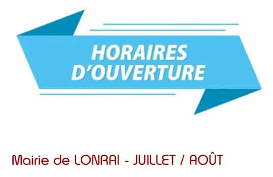 Horaires d'ouverture au public de la mairie Juillet/Août 2021