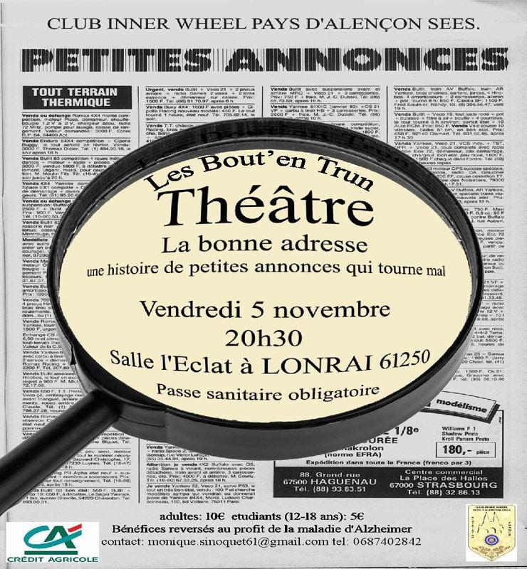 Théâtre : La bonne adresse